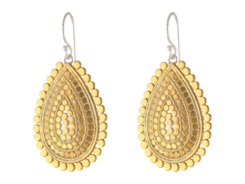 Anna Beck - Sunburst Teardrop Earrings (Sterling Silver w/ 18K Gold Vermeil) Earring