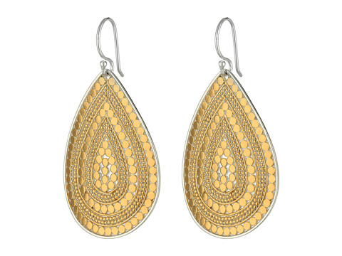 Anna Beck - Beaded Teardrop Earrings (Sterling Silver w/ 18K Gold Vermeil) Earring