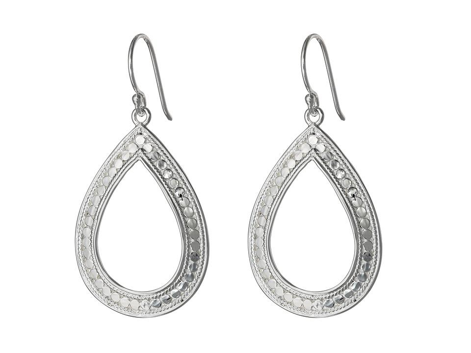 Anna Beck - Open Teardrop Earrings (Sterling Silver) Earring