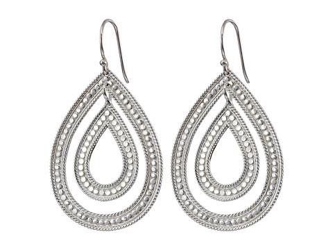 Anna Beck - Double Teardrop Earrings (Sterling Silver) Earring