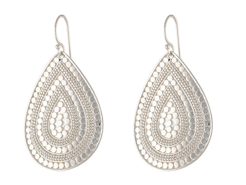 Anna Beck - Beaded Teardrop Earrings (Sterling Silver) Earring