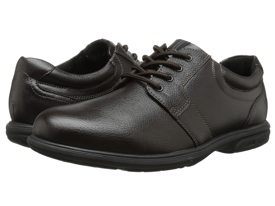 Nunn Bush - Cole Plain Toe Oxford (Dark Brown) Men's Lace up casual Shoes