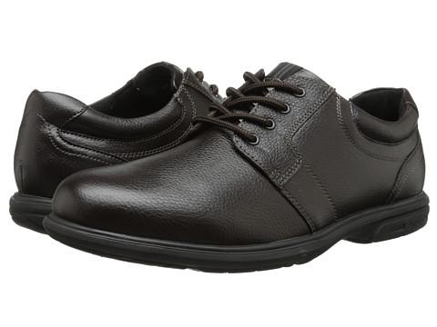 Nunn Bush - Cole Plain Toe Oxford (Dark Brown) Men's Lace up casual Shoes