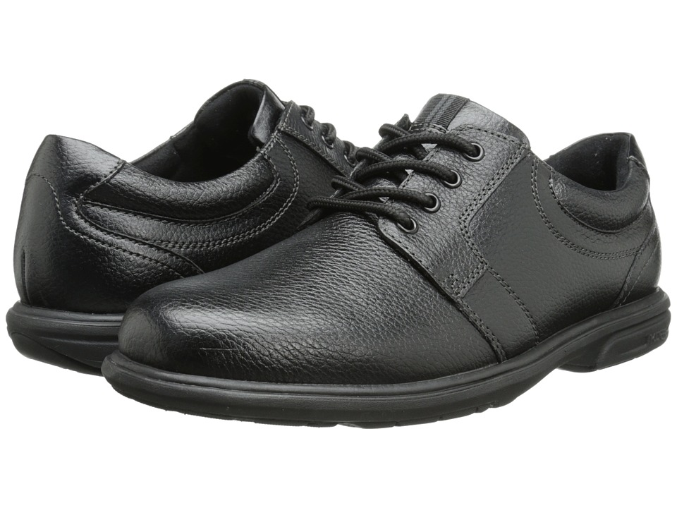 Nunn Bush - Cole Plain Toe Oxford (Black) Men's Lace up casual Shoes