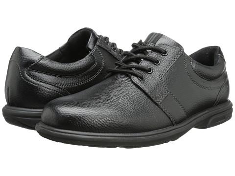 Nunn Bush - Cole Plain Toe Oxford (Black) Men's Lace up casual Shoes