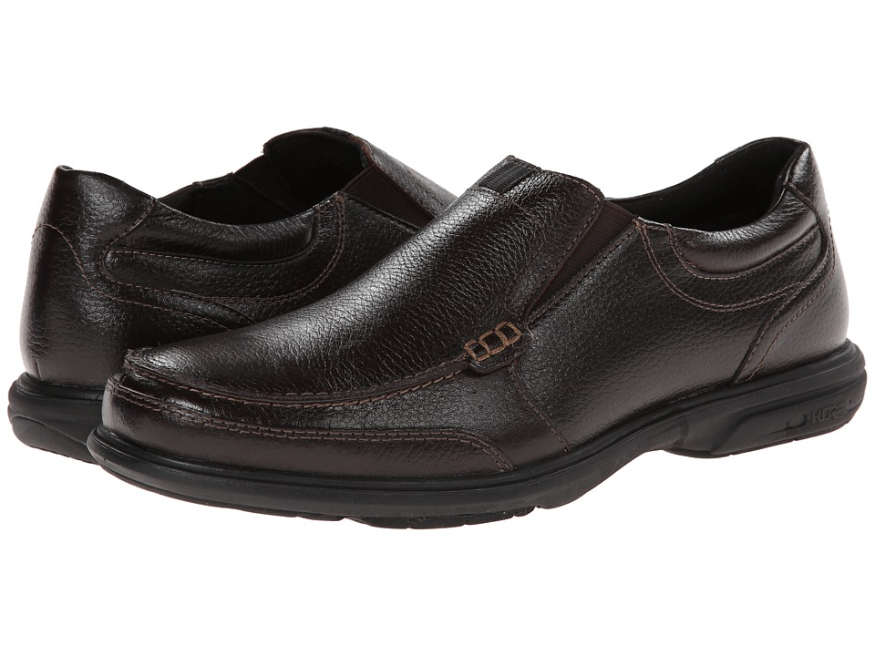 Nunn Bush - Carter Moc Toe Slip-On (Dark Brown) Men's Shoes