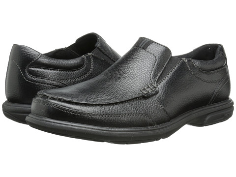 Nunn Bush - Carter Moc Toe Slip-On (Black) Men