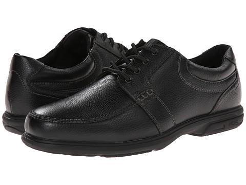 Nunn Bush - Carlin Moc Toe Oxford (Black) Men's Lace up casual Shoes