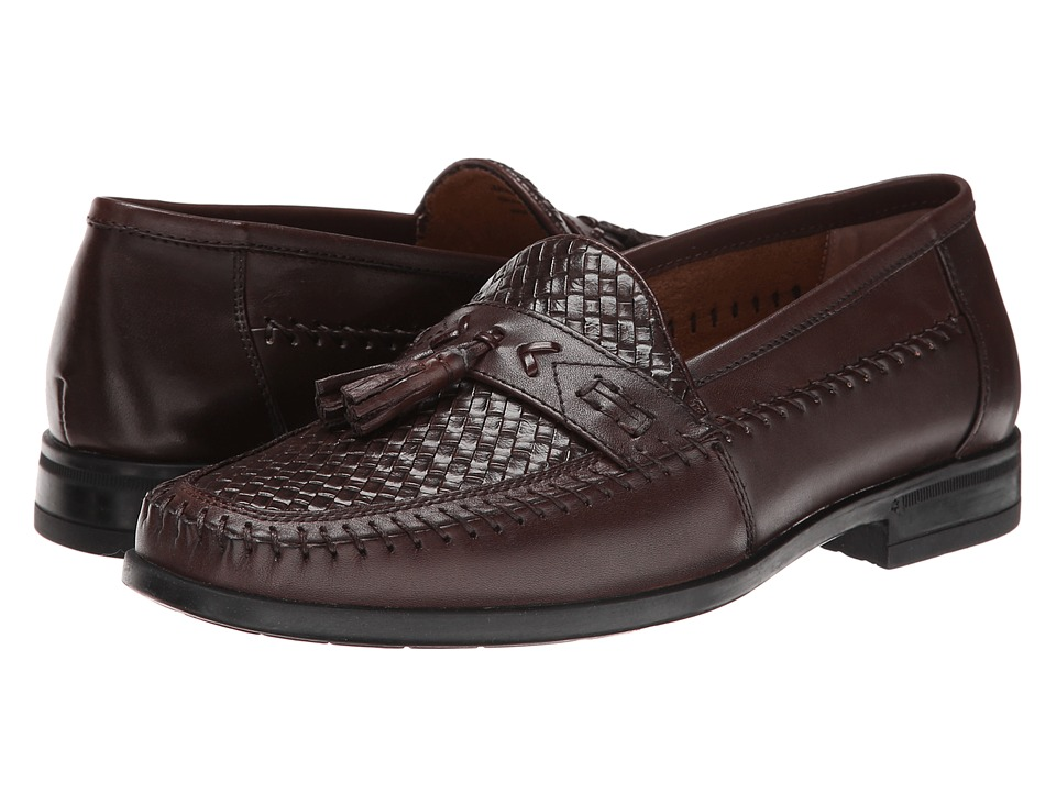 Nunn Bush Strafford Woven Moc Toe Slip-On (Brown) Men