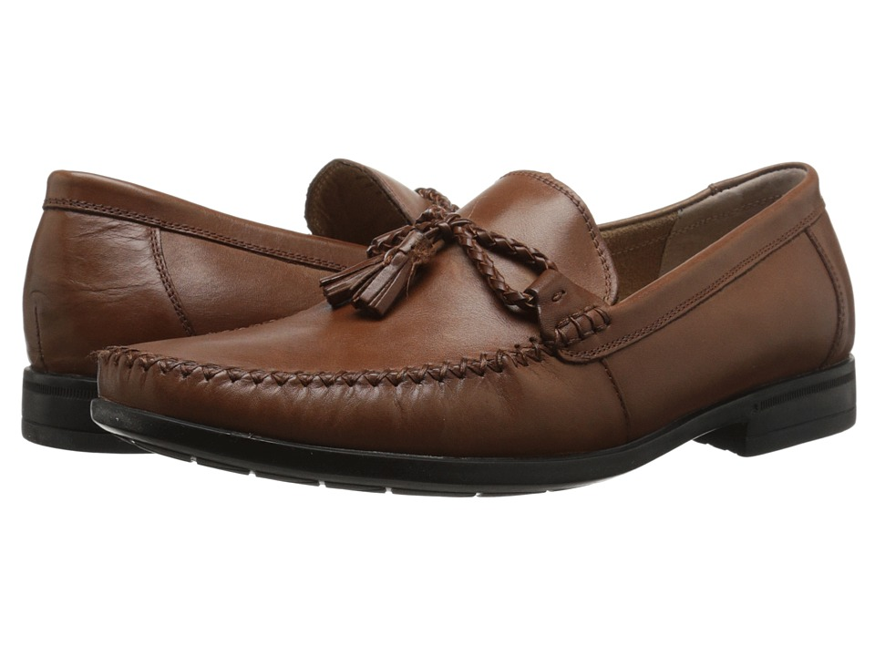Nunn Bush Newbury Tassel Moc Toe Slip-On (Cognac) Men
