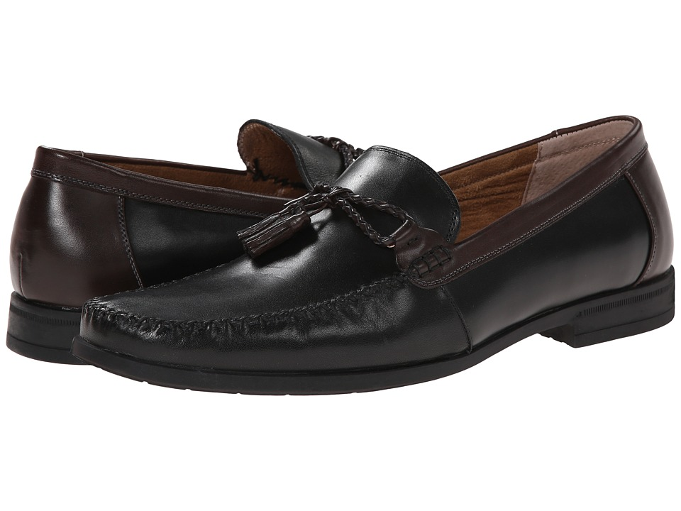 Nunn Bush - Newbury Tassel Moc Toe Slip-On (Black Multi) Men's Slip on Shoes