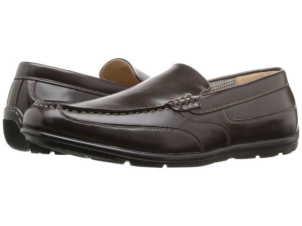 Nunn Bush - Cale (Brown) Men's Slip-on Dress Shoes