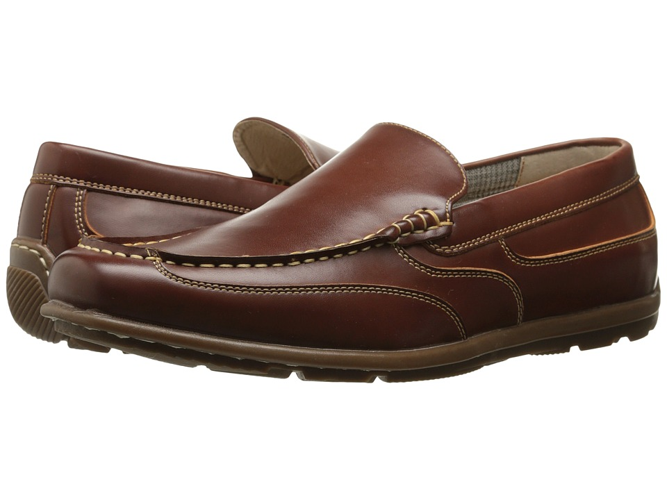 Nunn Bush - Cale (Cognac) Men's Slip-on Dress Shoes