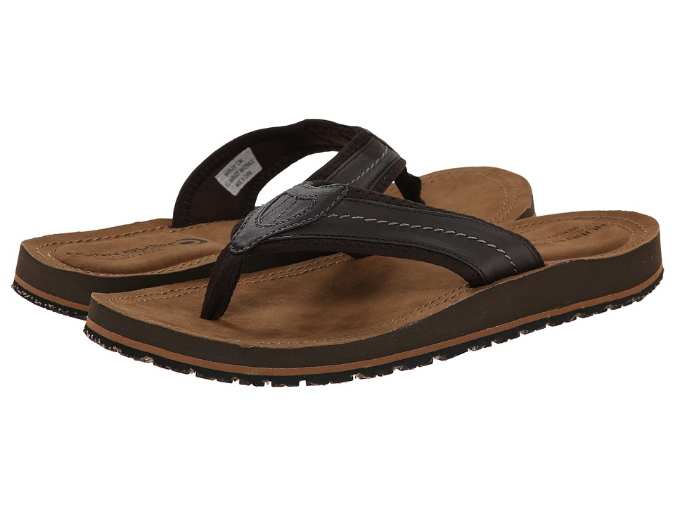 Nunn Bush Lakeshore Thong Sandal (Brown CH) Men