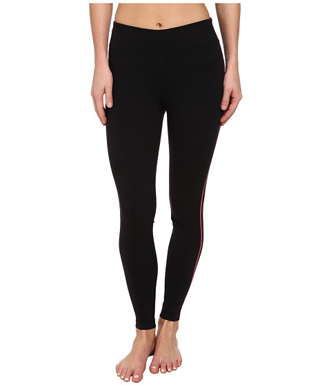 Fila - Essential Tight Leggings (Black/Knockout Pink) Women's Workout