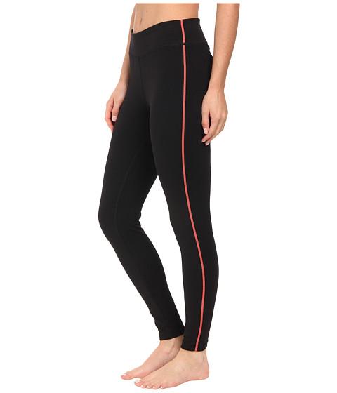 Fila - Essential Tight Leggings (Black/Fiery Coral) Women's Workout
