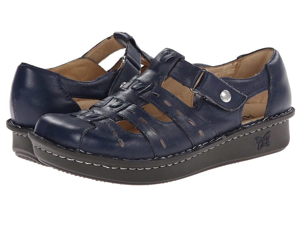 Alegria - Pesca (Navy) Women's Hook and Loop Shoes