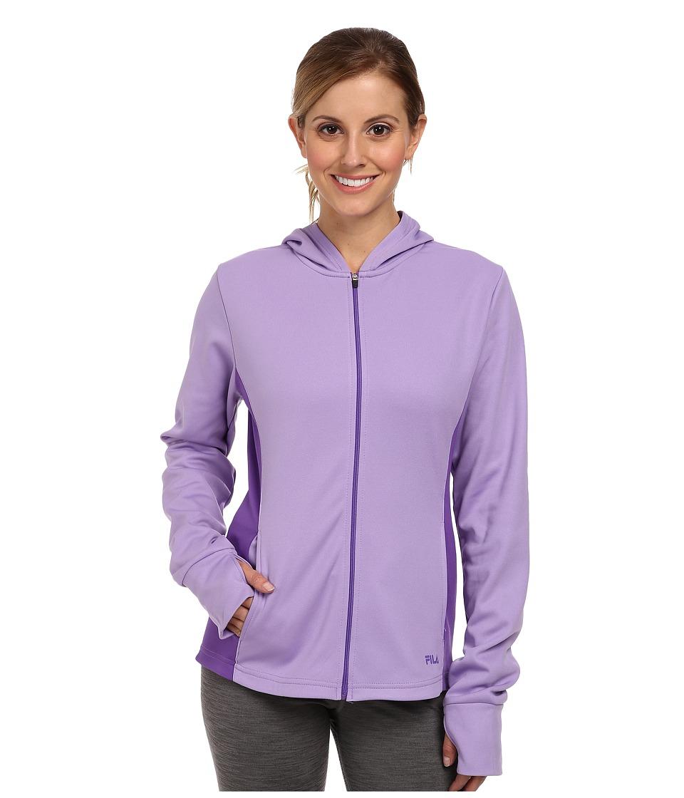 Fila - May Hoodie (Lavender Lady/Electric Purple) Women