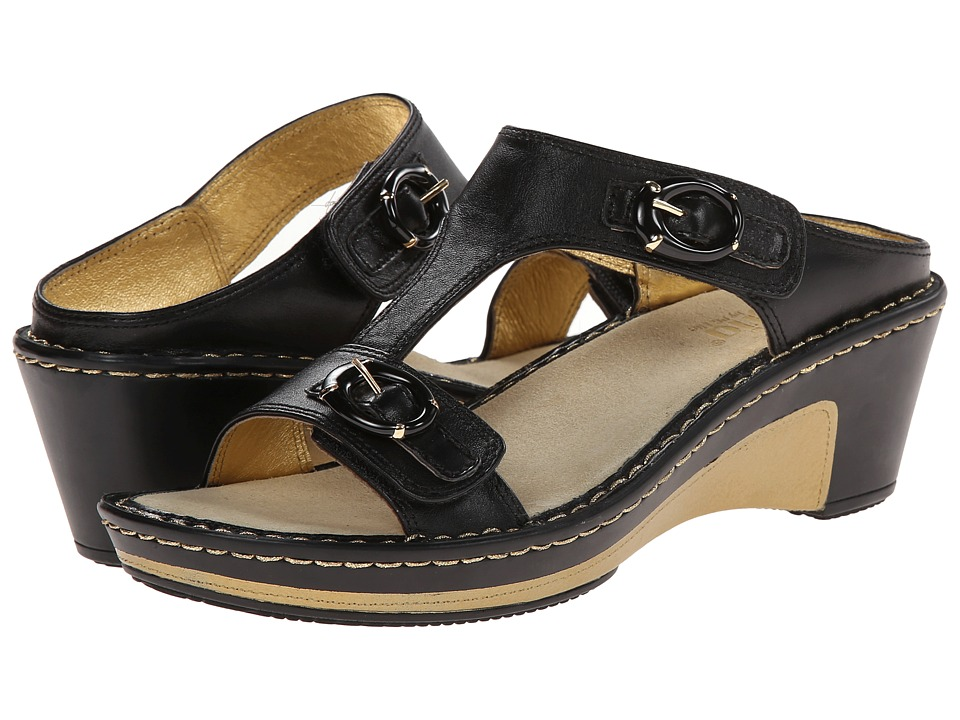 Alegria - Lara (Black Butter) Women's Wedge Shoes