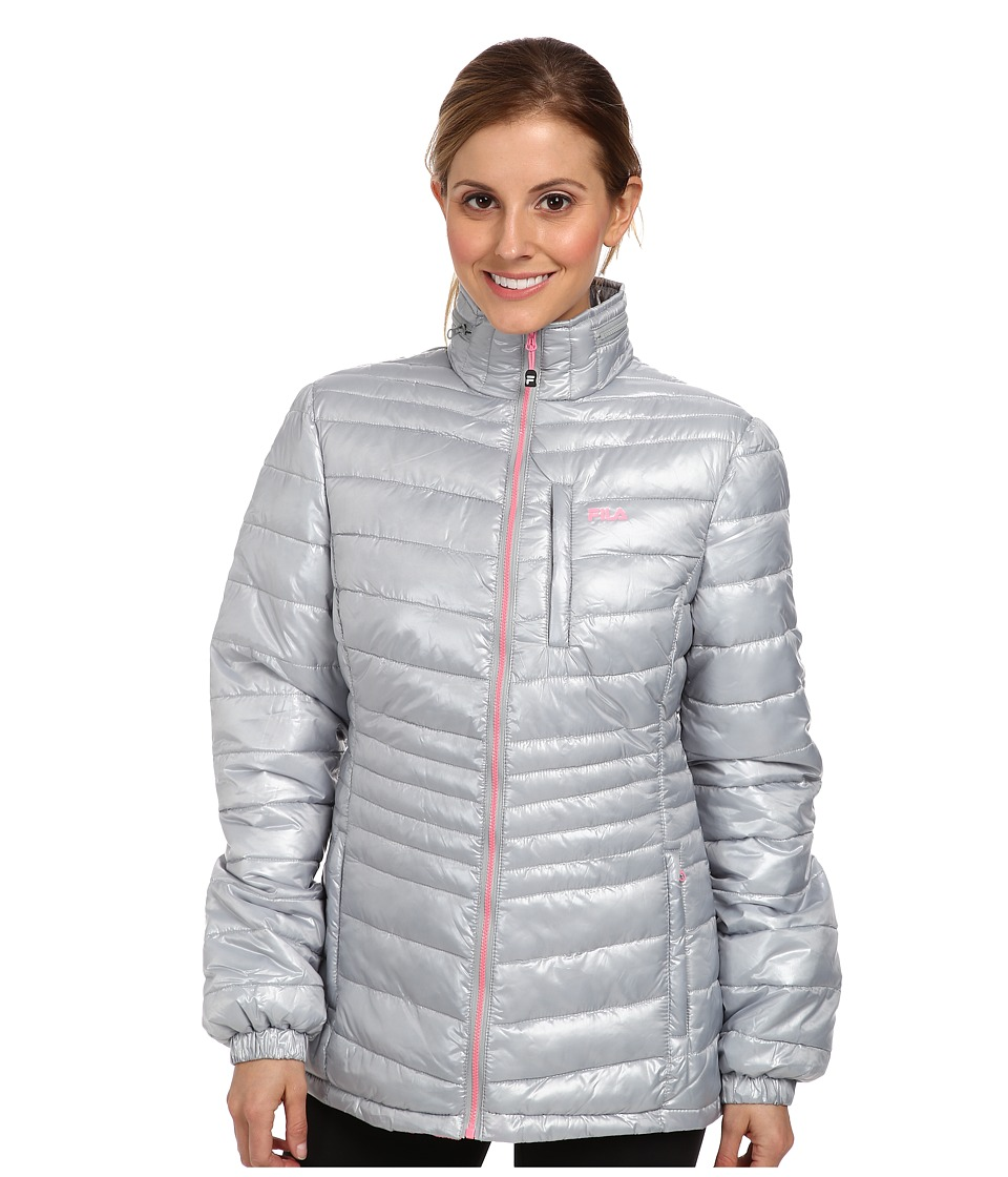 Fila - Shimmer Jacket (Quarry/Knockout Pink) Women's Coat