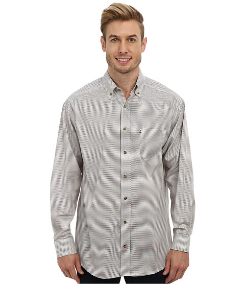 Tuf Cooper by Panhandle - L/S Geometric Button Down Shirt (Brown) Men