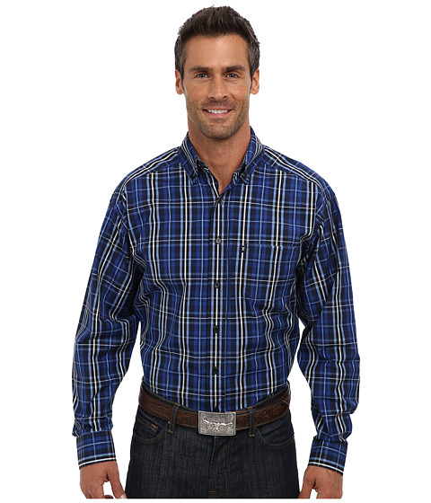 Tuf Cooper by Panhandle - L/S Button Down Shirt (Blue) Men