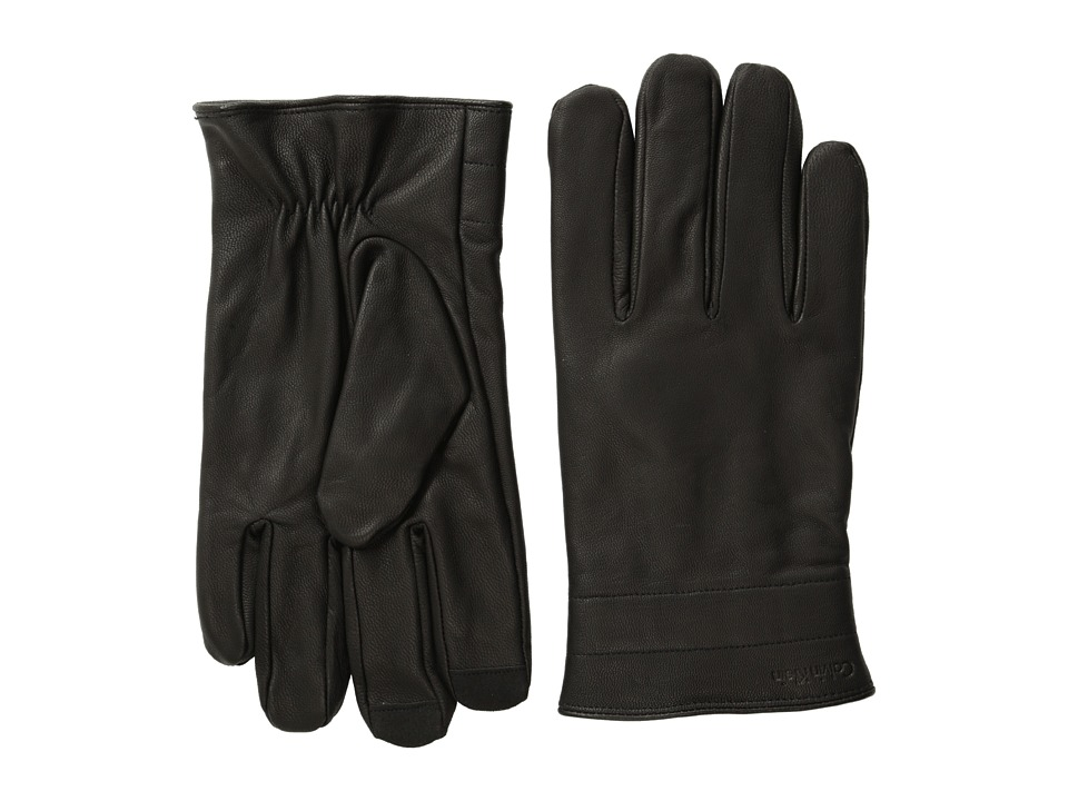 Calvin Klein - Double Quilt Cuff Glove and Touch Tips (Black) Extreme Cold Weather Gloves