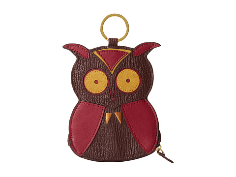 Jonathan Adler - Owl Coin Purse (Coffee/Honey/Beet) Wallet Handbags