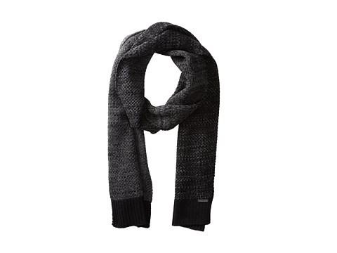 Calvin Klein - Textured Ombre Muffler (Black/Charcoal Grey Heather) Scarves