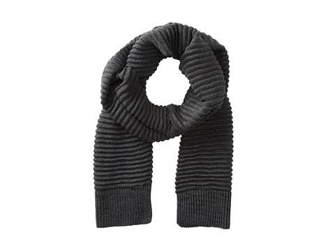 Calvin Klein - Ottoman Rib Muffler 2 (Charcoal Grey Heather) Scarves
