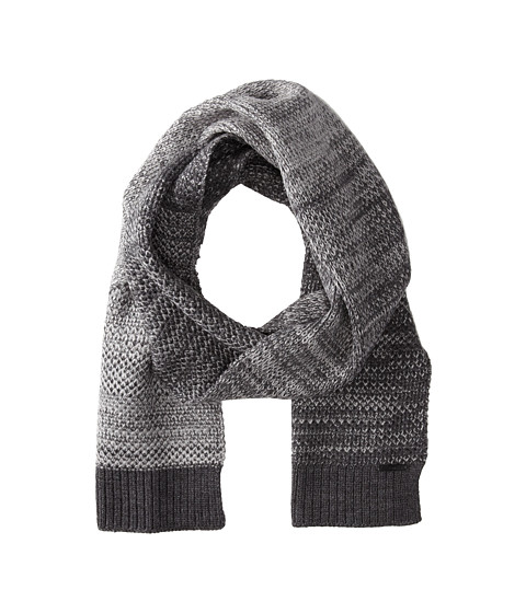 Calvin Klein - Textured Ombre Muffler (Charcoal Grey Heather) Scarves