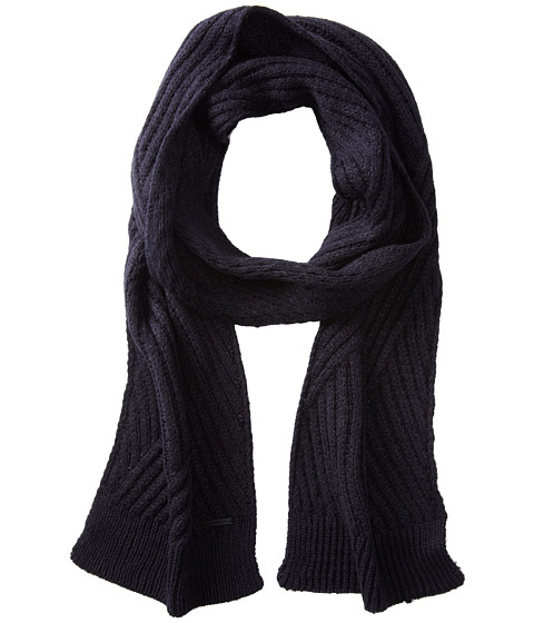 Calvin Klein - Geometric Rib Muffler (Nautical Navy) Scarves