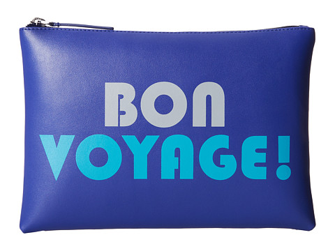 Jonathan Adler - Bon Voyage Medium Pouch (Blue Ribbon) Travel Pouch