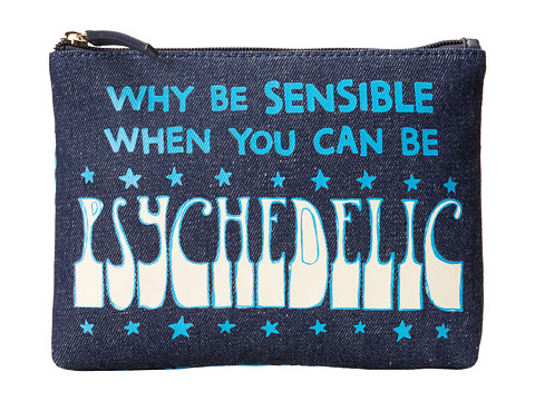 Jonathan Adler - Why Be Small Pouch (Navy) Travel Pouch
