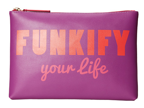 Jonathan Adler - Funkify Medium Pouch (Hot Purple) Travel Pouch
