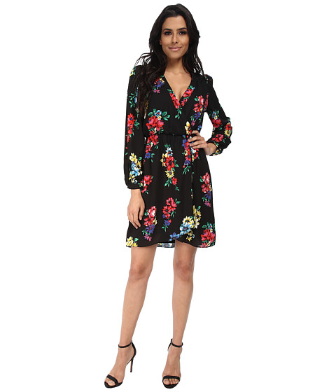 Brigitte Bailey - Demri Lux Dress (Spring Black Floral) Women's Dress