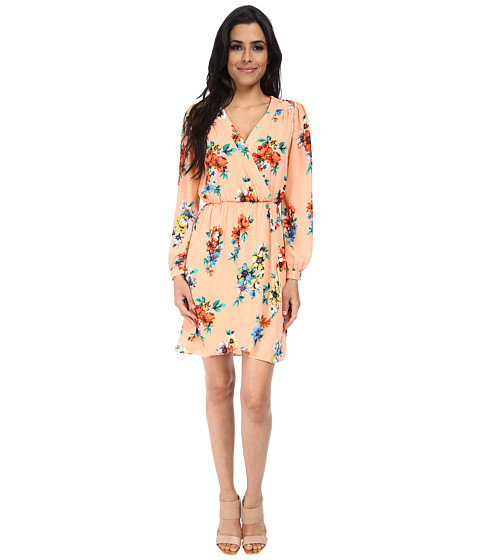 Brigitte Bailey - Demri Lux Dress (Spring Peach Floral) Women
