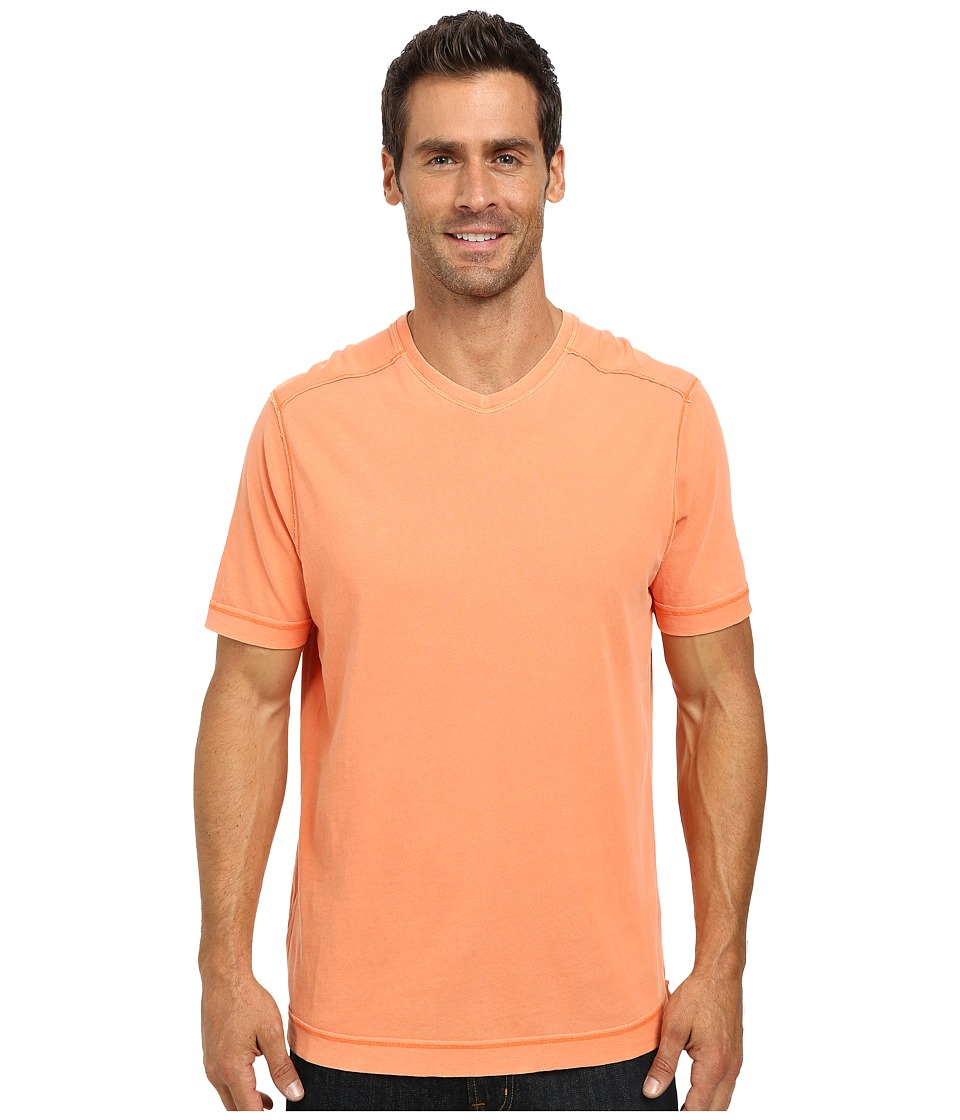 Tommy Bahama - Cohen V-Neck (Goldfish Orange) Men's Short Sleeve Pullover