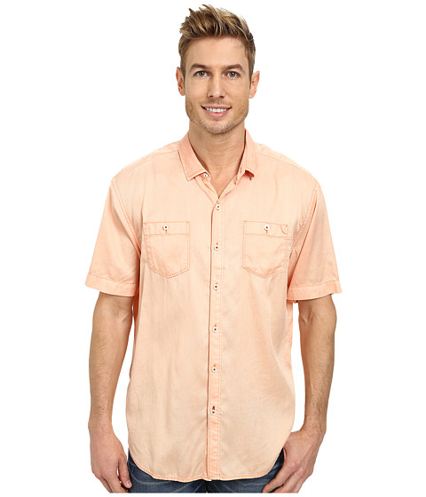 Tommy Bahama Denim - New Twilly Junior S/S (Peach Ice) Men's Clothing