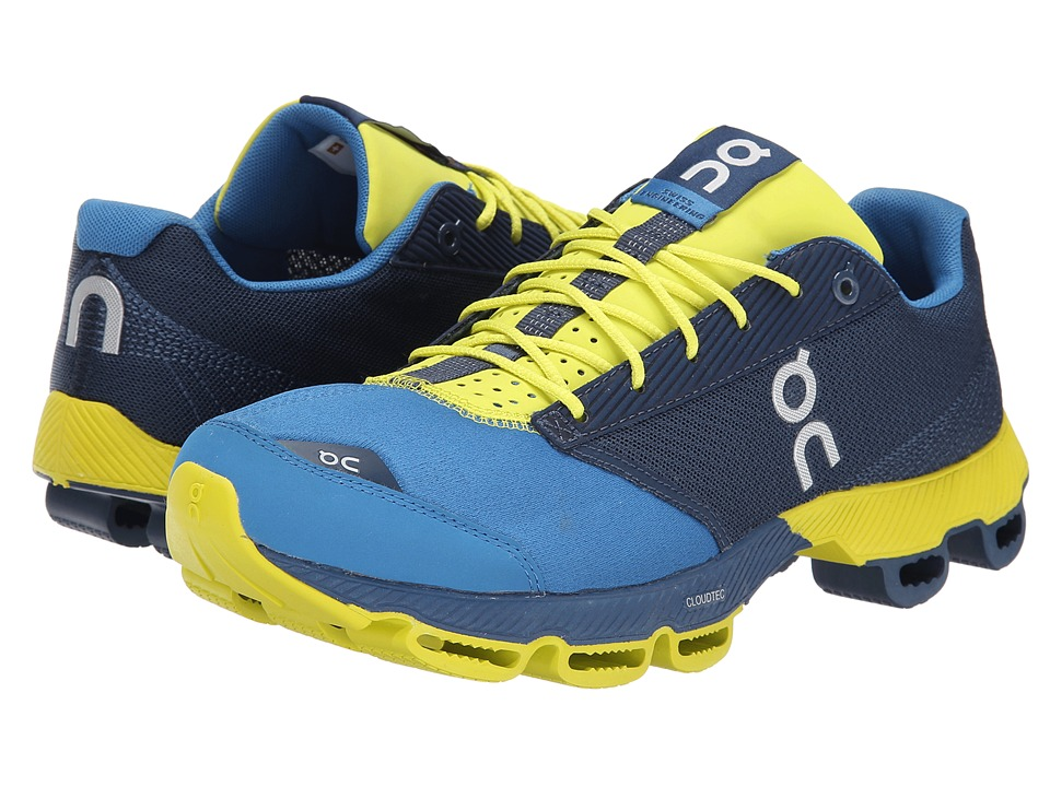 On - Cloudster (Denim/Lime) Men's Running Shoes