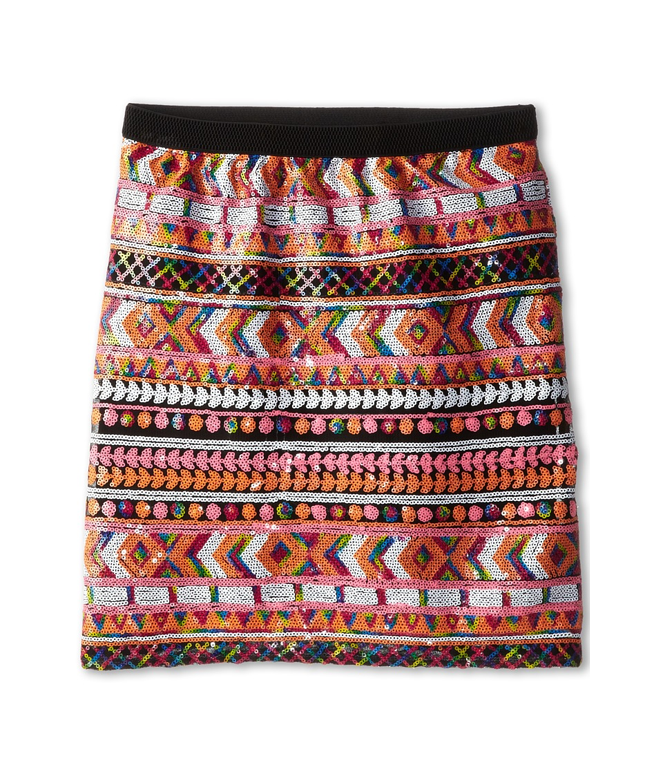 Ella Moss Girl - Renee Sequin Aztec Skirt (Big Kids) (Multi) Girl's Skirt