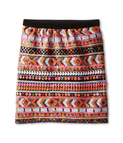 Ella Moss Girl - Renee Sequin Aztec Skirt (Big Kids) (Multi) Girl