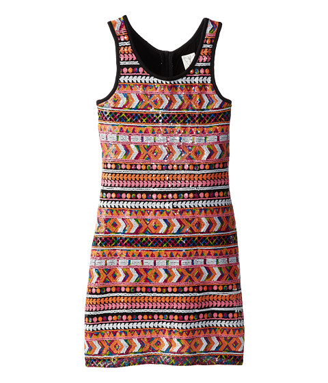 Ella Moss Girl - Renee Sequin Azted Dress (Big Kids) (Multi) Girl