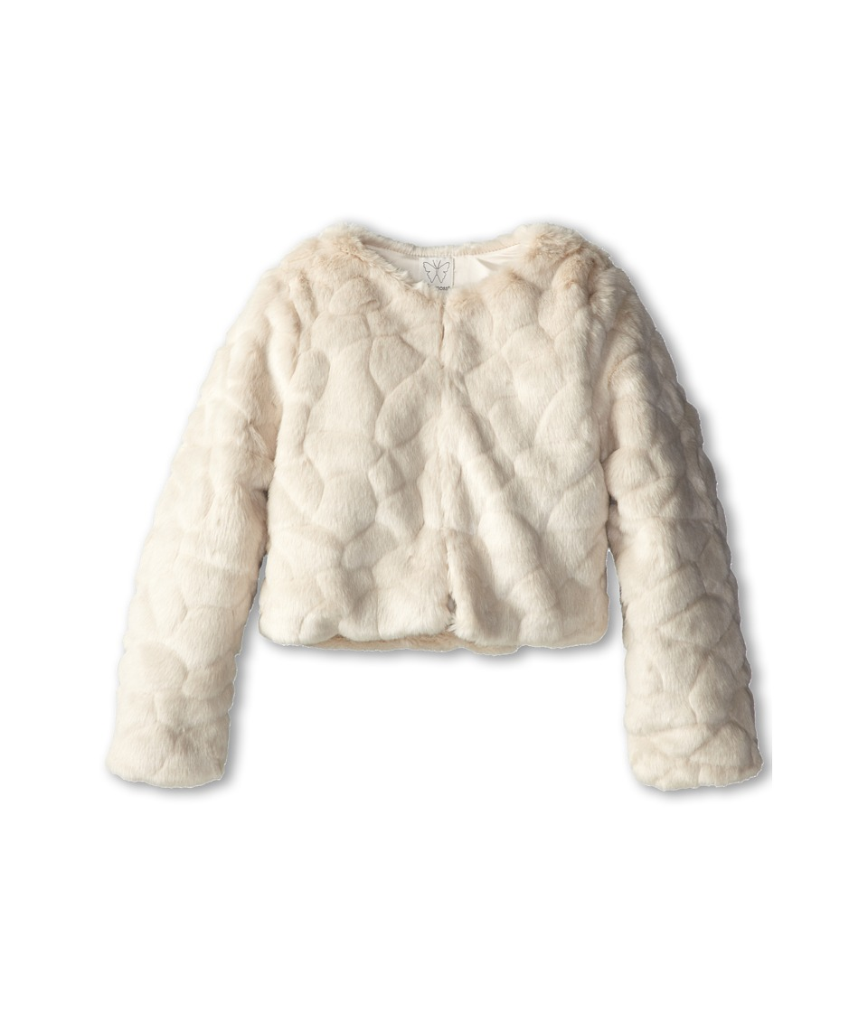 Ella Moss Girl - Faux Fur Jacket (Big Kids) (Off White) Girl's Coat