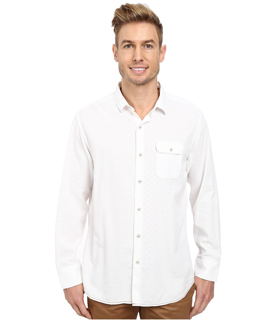 Tommy Bahama - Roma Jacquarda L/S (White) Men's Long Sleeve Button Up