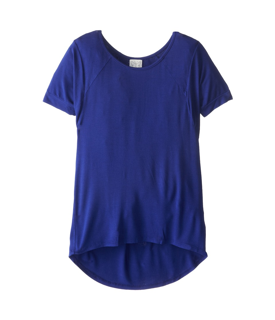 Ella Moss Girl - Betty Solid Jersy Top (Big Kids) (Royal Blue) Girl's Short Sleeve Pullover