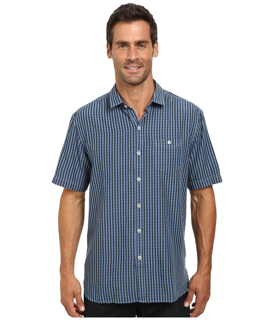 Tommy Bahama - New Gregory Check S/S (Chambray 2) Men's Clothing