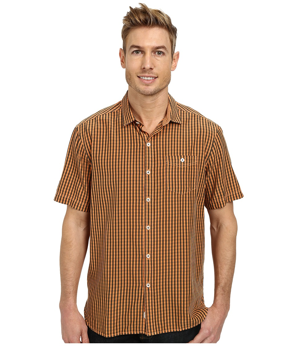 Tommy Bahama - New Gregory Check S/S (Light Mango) Men's Clothing