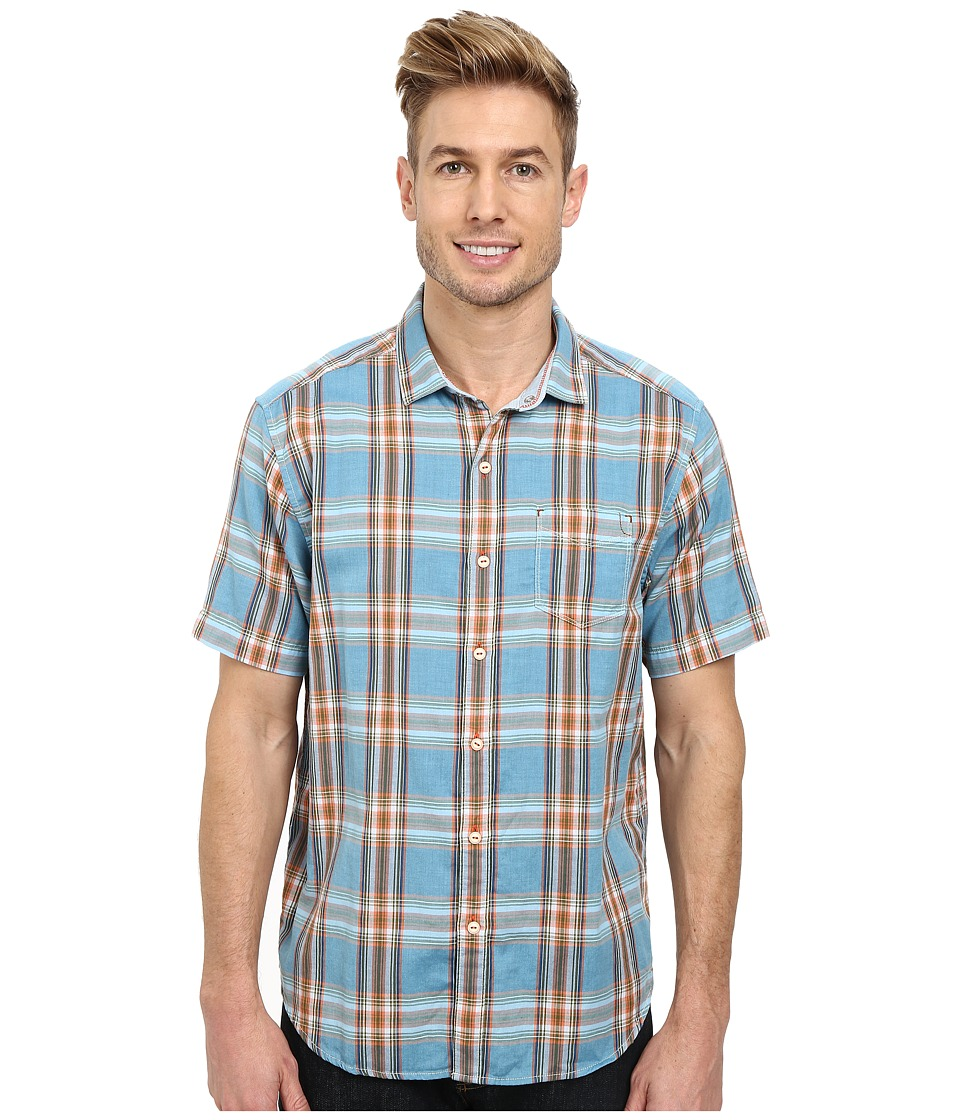 Tommy Bahama - Double Maker Plaid S/S (Sea View) Men's Short Sleeve Button Up