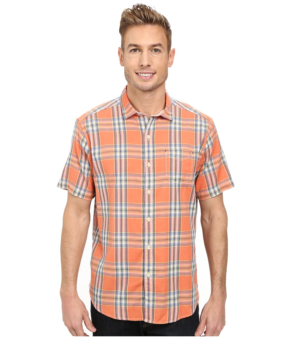 Tommy Bahama - Double Maker Plaid S/S (Sunset) Men's Short Sleeve Button Up